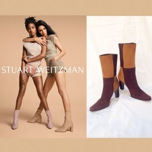 🌺STUART WEITZMAN Sz 7.5 Brown Suede Ankle Boots🌺